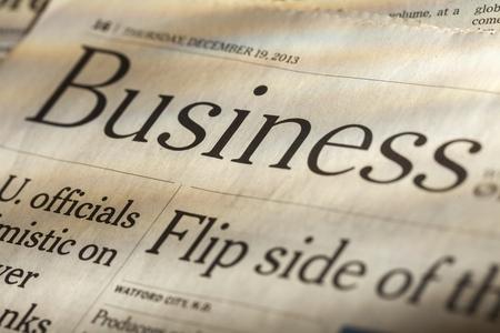 broadsheet newspaper: Finance.