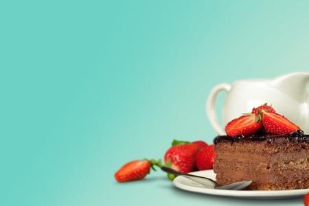 trozo de pastel: Cake. Foto de archivo
