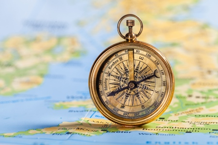 magnetic north: Compass.