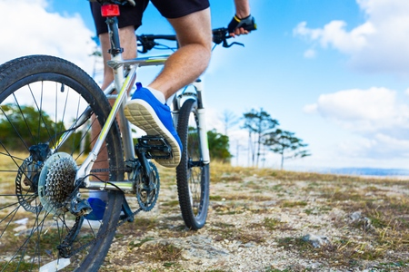 mountainbiking: Bike. Stock Photo