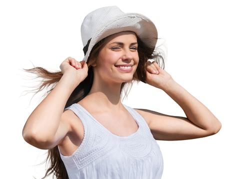 sol radiante: Sombrero para el sol.