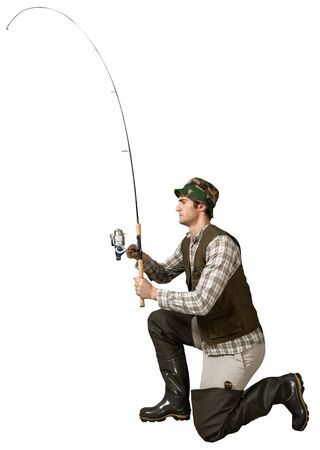 brook trout: Fishing. Stock Photo