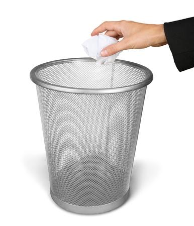 throw paper: Garbage.