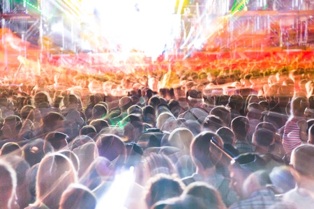 entertainment event: Crowd at music festival Stock Photo