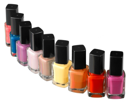 pink nail polish: Nail Polish. Stock Photo
