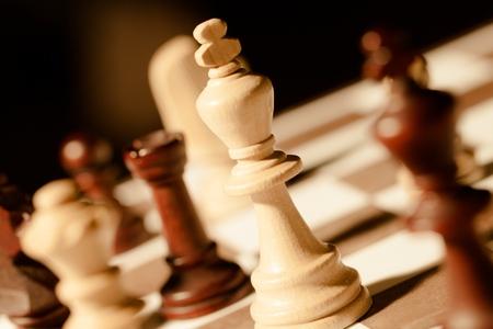estrategia: Ajedrez. Foto de archivo