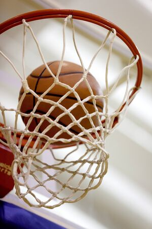 directly below: Basketball. Stock Photo