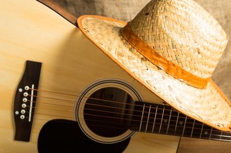 instruments de musique: Country music. Banque d'images