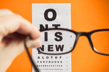 opthalmology: Glasses.