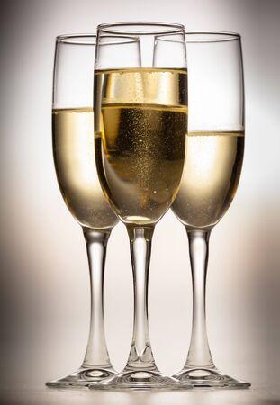 champagne bubbles: Champagne.