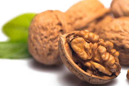 walnut: Walnut. Stock Photo
