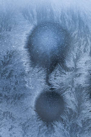 wintery snowy: Frost. Stock Photo