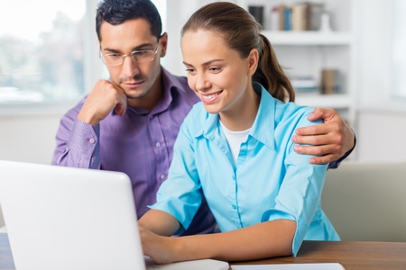 working space: Couple. Stock Photo