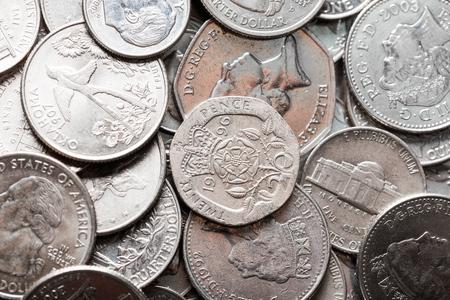 numismatist: Silver. Stock Photo