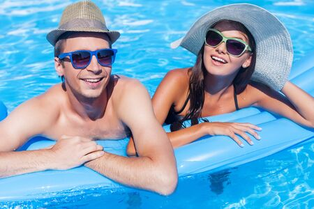 keeping fit: Pool. Stock Photo