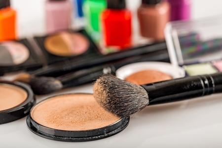 black makeup: Up.