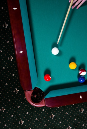cue sports: Pool Game. Stock Photo