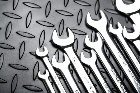 open end wrench: Work Tool. Stock Photo
