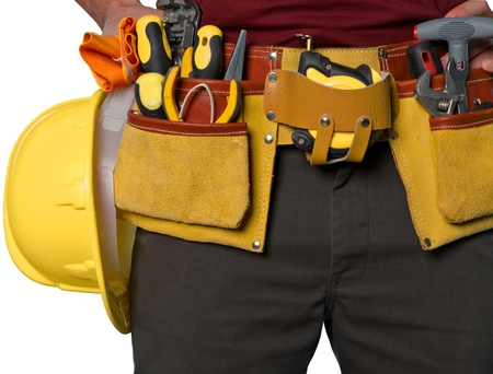 tools belt: Work Tool. Stock Photo