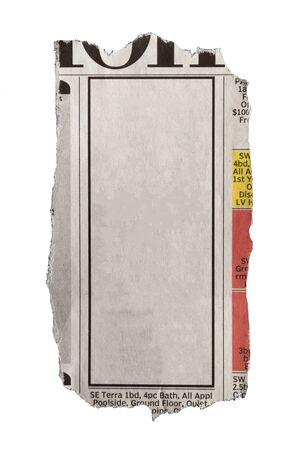 printout: Newspaper. Stock Photo