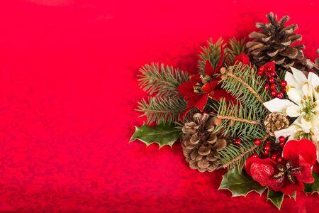 gold ornaments: Poinsettia.
