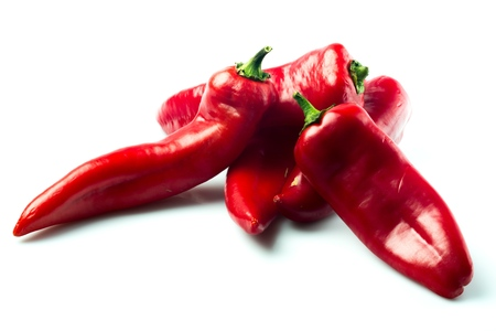 five objects: Chili Pepper. Stock Photo