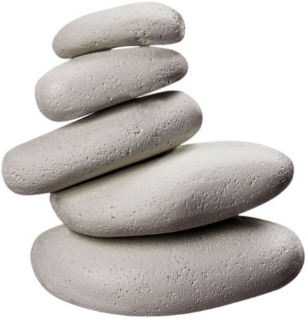 five objects: Stone. Stock Photo