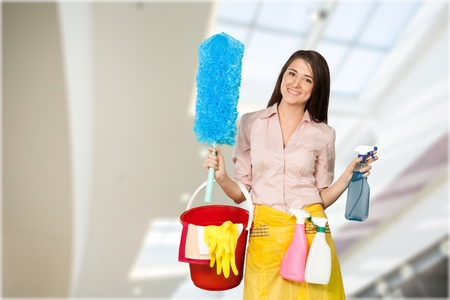 charlady: Cleaning. Stock Photo