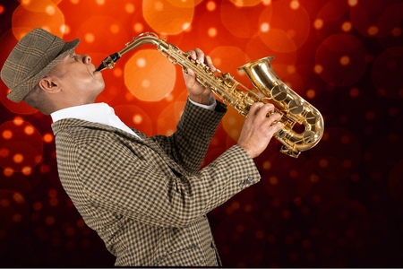 african sax: Rock. Stock Photo
