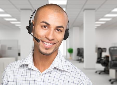 service man: Headset.