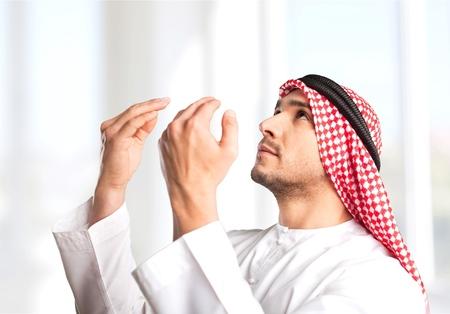 dishdasha: Saudi. Stock Photo