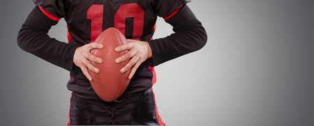 cirrostratus: American Football. Stock Photo