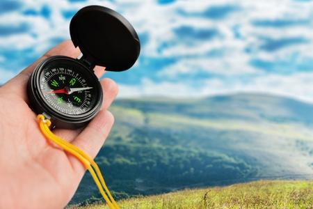 orienteering: Compass.