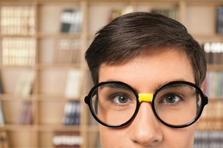 eyecontact: Glasses.