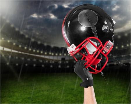 conquering adversity: American Football. Stock Photo
