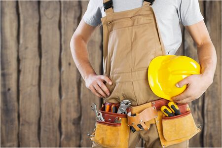 work worker: Repairman. Stock Photo