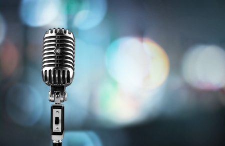 Microphone. Banque d'images - 50305487