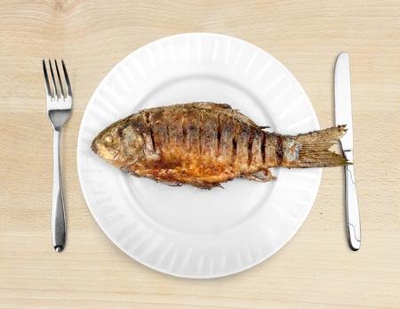 pescado frito: Peces.  Foto de archivo