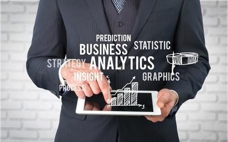 business graph: Marketing. Stock Photo