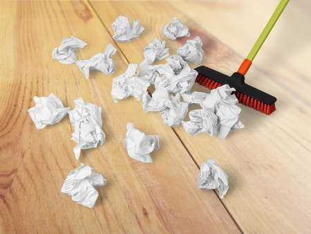 office cleanup: Broom.