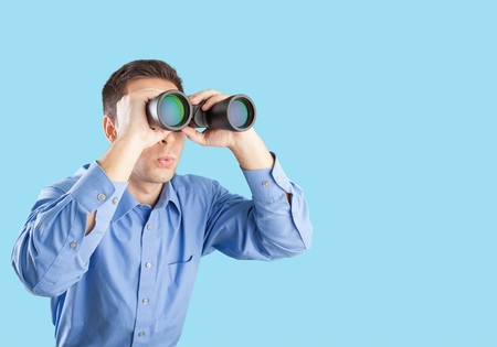 males only: Binoculars. Stock Photo