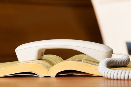 directory: Telephone Directory. Stock Photo