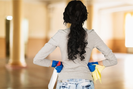 disinfecting: Cleaning. Stock Photo