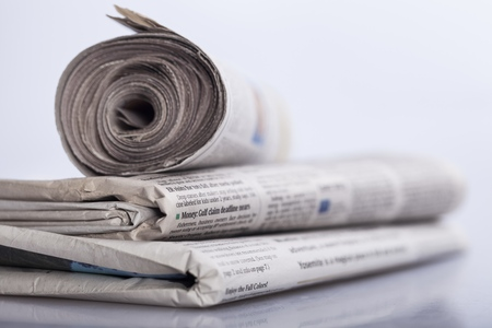 print media: Newspaper. Stock Photo