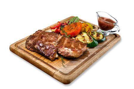 fillet steak: Steak. Stock Photo