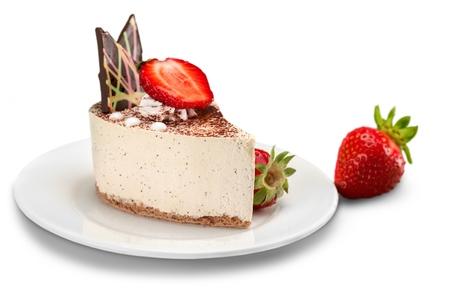 a portion: Cake. Stock Photo