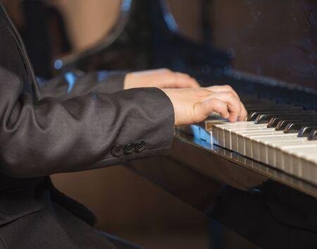 pianista: Pianista. Foto de archivo