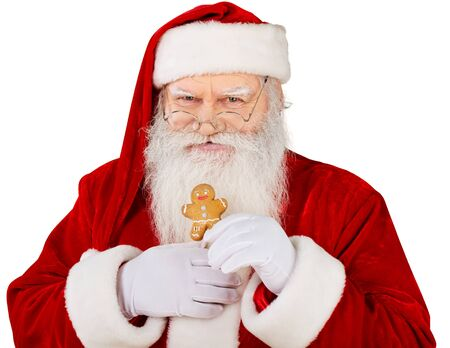 santa clause hat: Santa Claus. Stock Photo