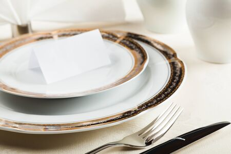 place setting: Place Setting. Stock Photo