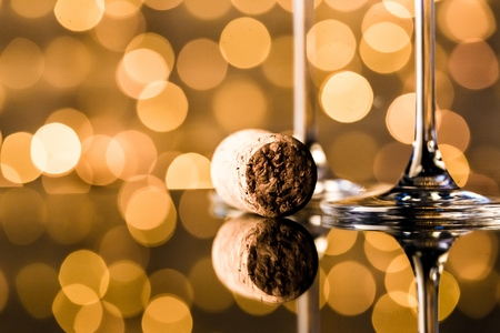 flutes: Flutes of champagne. Stock Photo